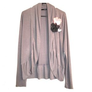 Maurices  cardigan- gray with flowers.  Size XL